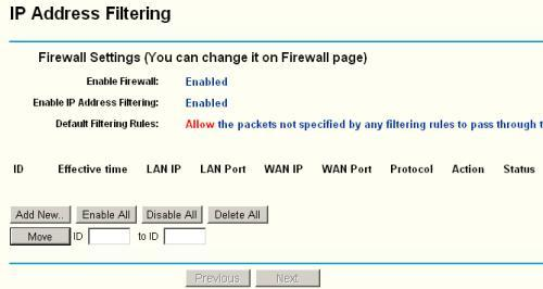 IP Address Filtering