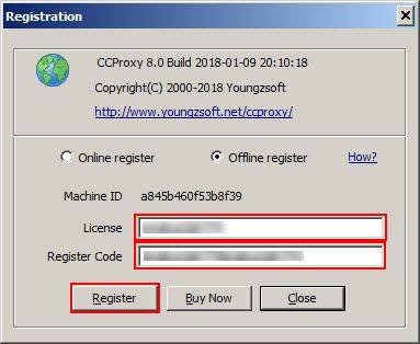 Offline registration