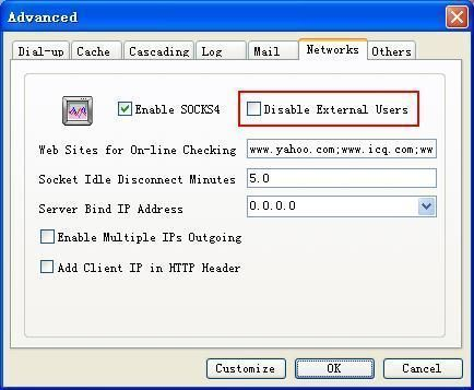 Disable External Users