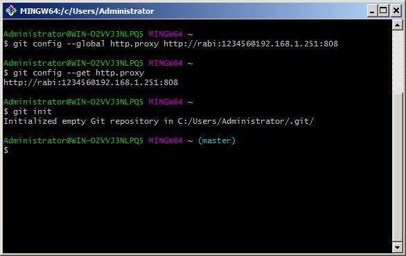 git initialization