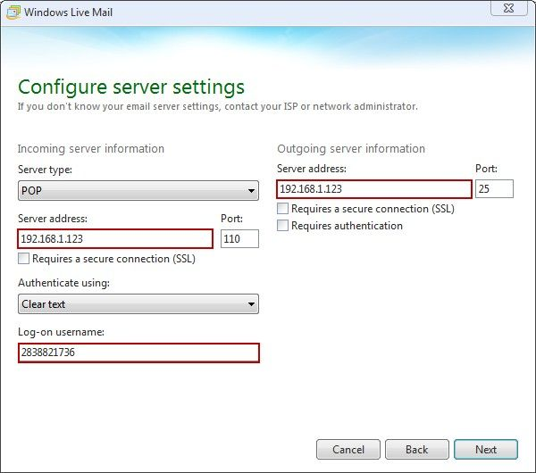 Configure Server Settings