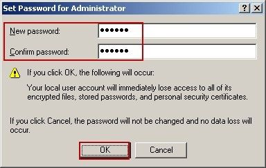 Set up New Password