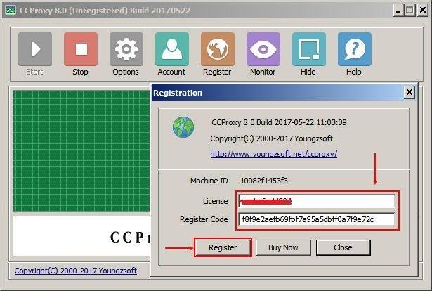 register codes