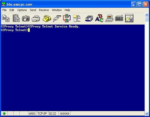CCProxy Telnet.