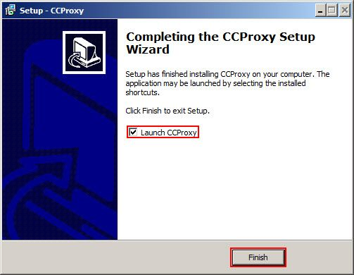 Launch CCProxy